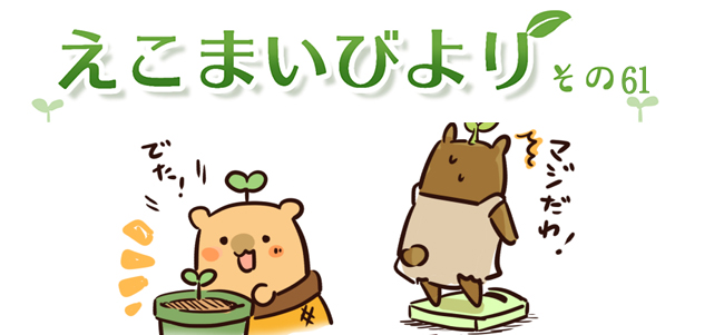 えこまいくまーの4コマ漫画 vol.61